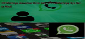 OGWhatsapp Download Kaise kare और OGWhatsapp Kya Hai in Hindi ।OGWhatsapp Features