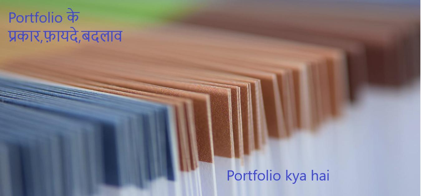 Portfolio kya hai (What is portfolio in hindi) Portfolio के प्रकार,फ़ायदे,बदलाव